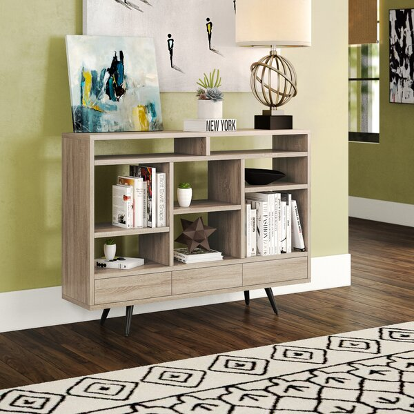 Home Décor Blonde Geometric Bookcase
