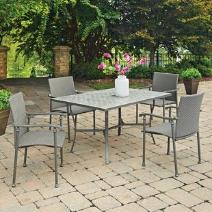 Umbria Concrete Tile 5 Piece Dining Set By Home Styles