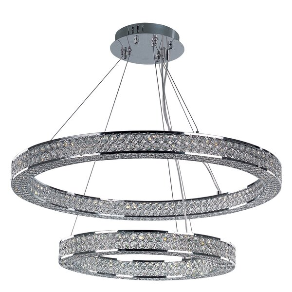 Ambrose 1-Light Unique / Statement Tiered Chandelier by House of Hampton House of Hampton