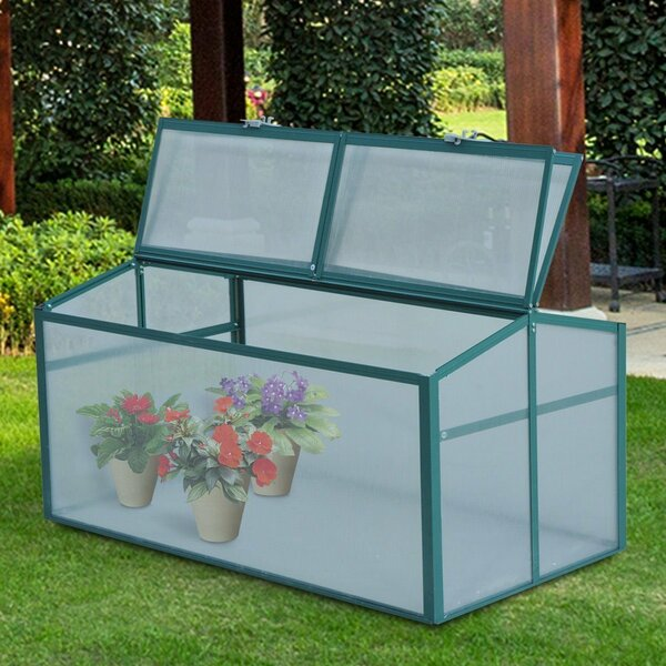 2 Ft. W x 4 Ft. D Cold-Frame Greenhouse by Outsunny