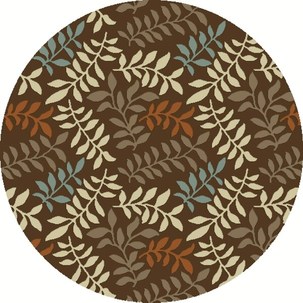Chester Brown Leafs Area Rug by Threadbind