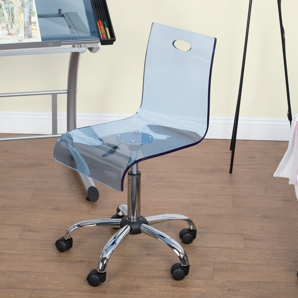 Lucent Acrylic Mid-Back Desk Chair by Studio Designs