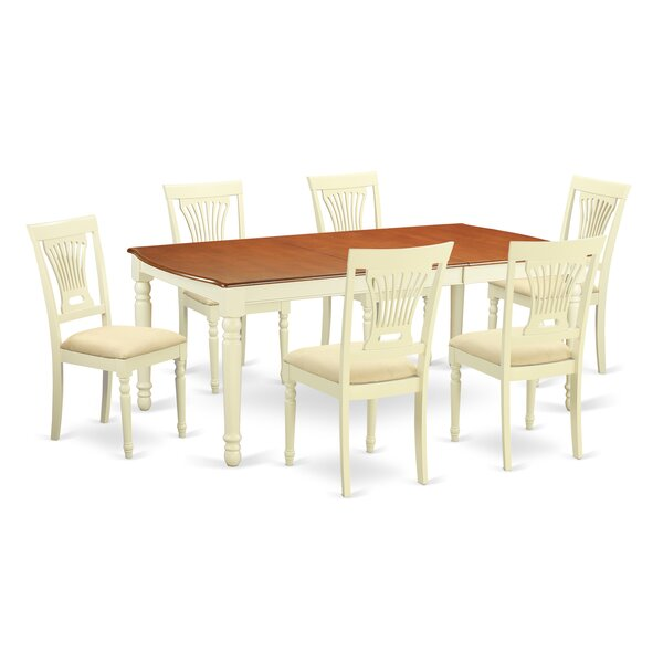 Best #1 Carmel 7 Piece Dining Set By August Grove Discount