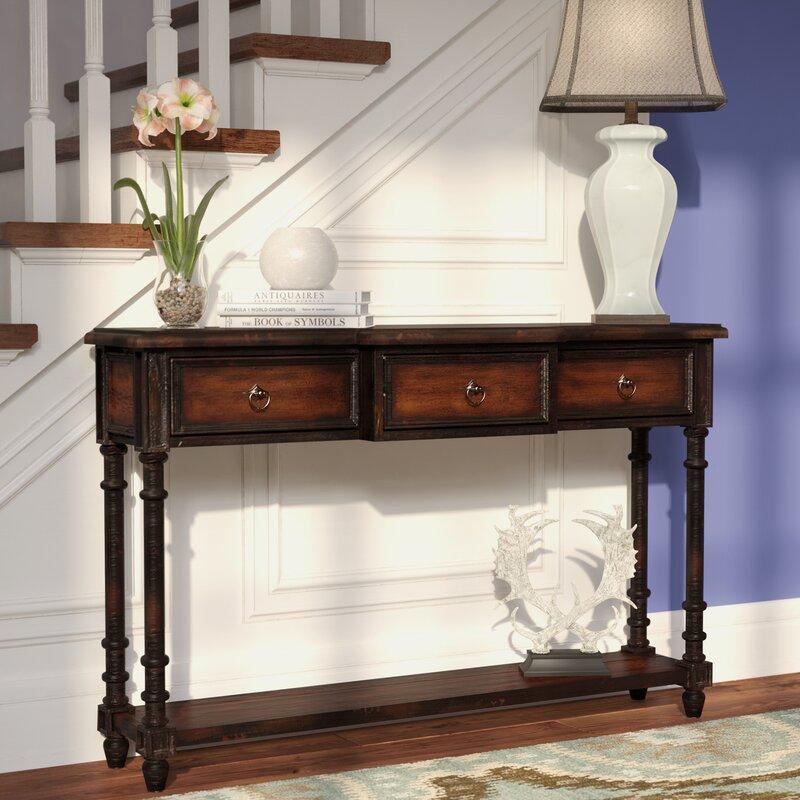 Attractive La Grange Regency 3 Drawer Console Table