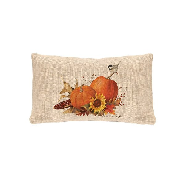 Waddell Pumpkin Lumbar Pillow Cover by August Grove
