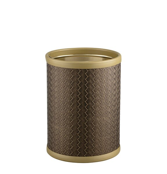 Hickory Steel Waste Basket by Bay Isle Home