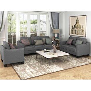 Eilynn 3 Piece Living Room Set by Red Barrel Studio®