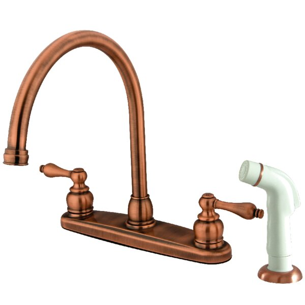 Centerset Double Handle Kitchen Faucet by Kingston Brass