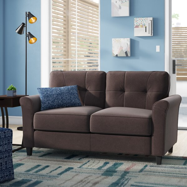 Best Choices Cambridgeshire Microfiber 57 Round Arm Loveseat by Ebern Designs
