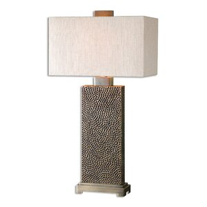 Modern rectangle shaped table lamps allmodern vroman 32 table lamp mozeypictures Choice Image