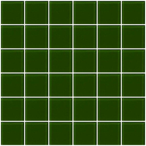 Bijou 22 2 x 2 Glass Mosaic Tile in Medium Dark Green by Susan Jablon