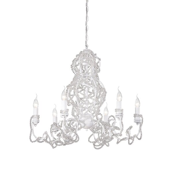 Fantasia 6 - Light Candle Style Classic / Traditional Chandelier By Eurofase