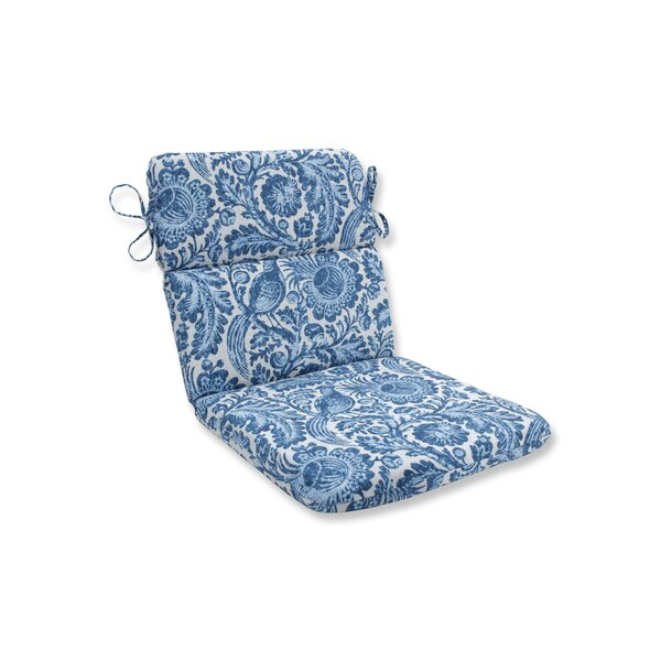 Tucker Resist Azure Indoor/Outdoor Dining Chair Cushion by Ophelia & Co.