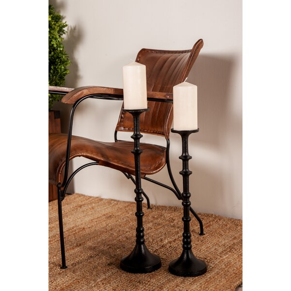 Traditional 3 Piece Metal Candlestick Set by Charlton Home
