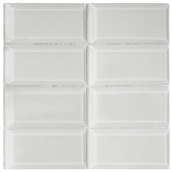 Lithium 3 x 6 Beveled Glass Mosaic Tile in Smoke by CNK Tile