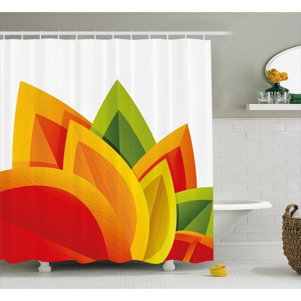 Abstract Digital Autmn Leaf Shower Curtain by East Urban Home