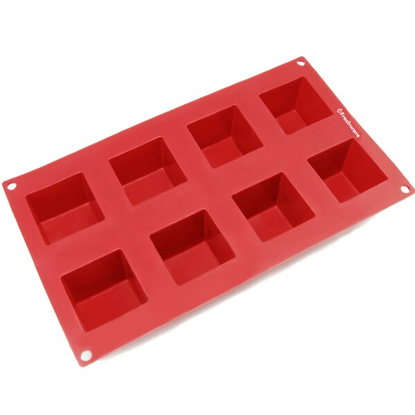 8 Cavity Square Silicone Mold Pan by Freshware