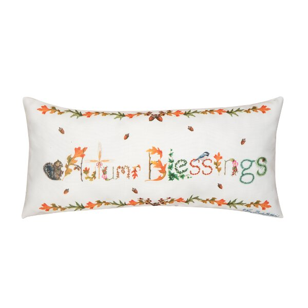 Fergerson Autum Blessings Indoor/Outdoor Lumbar Pillow by The Holiday Aisle