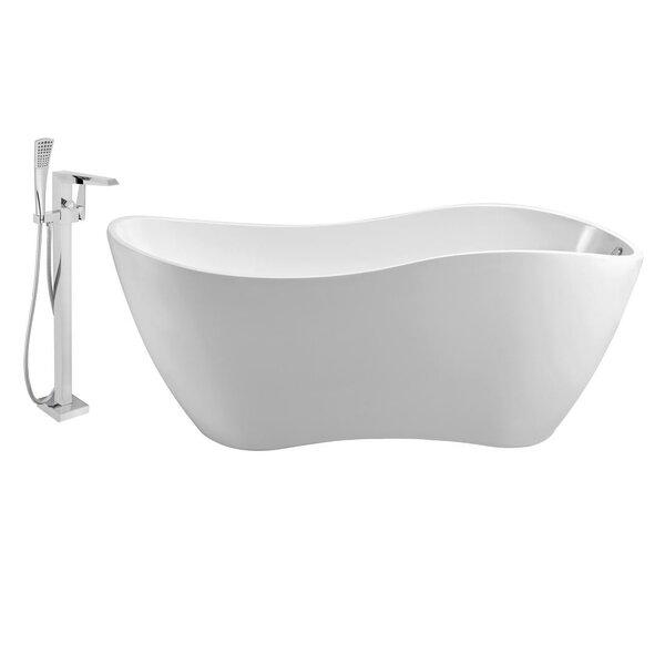 63 x 29 Freestanding Soaking Bathtub by Streamline Bath