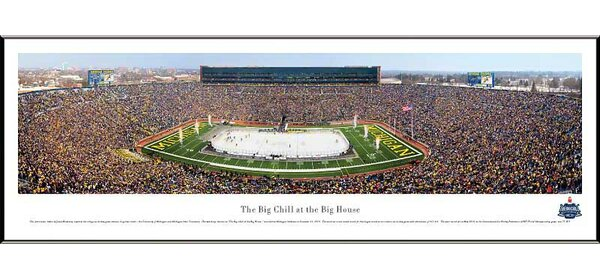 NCAA The Big Chill at The Big House Standard Framed Photographic Print by Blakeway Worldwide Panoramas, Inc