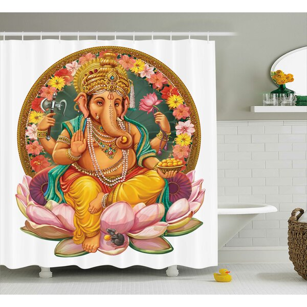 Jardine Indian Elephant Shower Curtain by World Menagerie