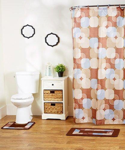 Rosella 15-Piece Shower Curtain Set by Ebern Designs