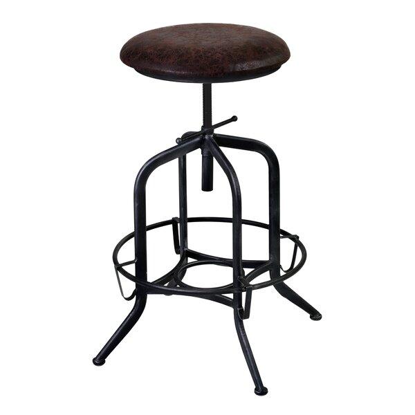 Cherlyn Adjustable Height Swivel Bar Stool by Williston Forge