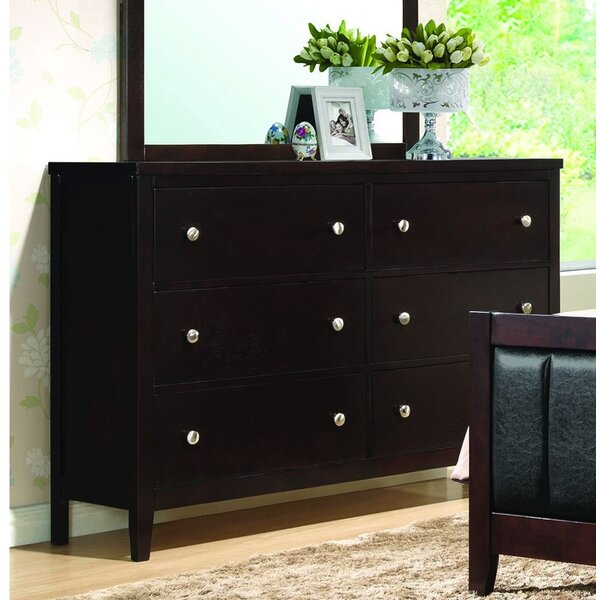 DeHond Nautilus 6 Drawer Double Dresser by Winston Porter