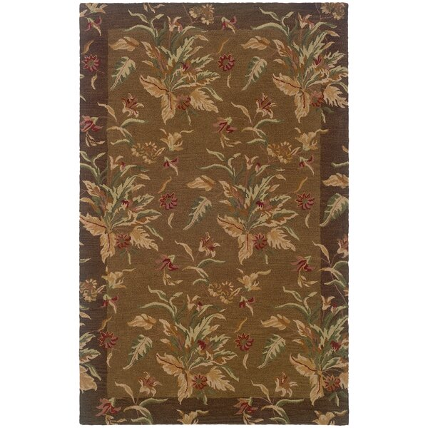 Brierley Hand-made Tan/Brown Area Rug by Bay Isle Home