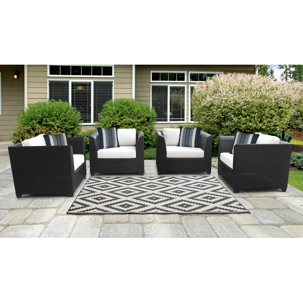 Tegan Patio Chair with Cushions (Set of 4) by Sol 72 Outdoor Sol 72 Outdoor