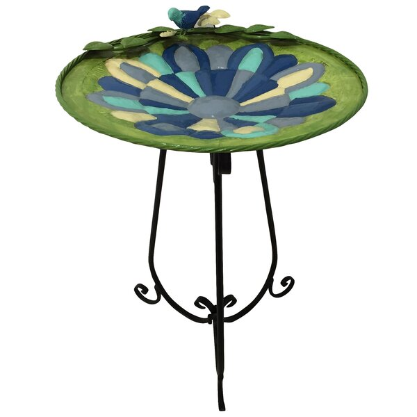 Mosaic Birdbath by Alpine