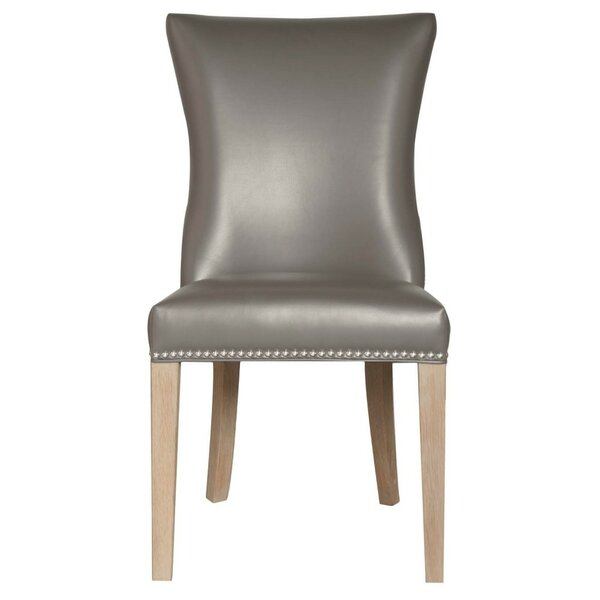 Tobias Wooden Leatherette Upholstered Dining Chair (Set of 2) by Foundry Select