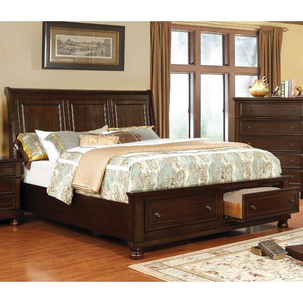 Holtzman Storage Sleigh Bed by Alcott Hill