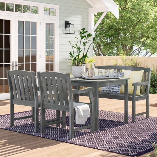 Monterry 4 Piece Dining Set by Beachcrest Home