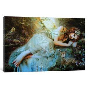 'Spring Fairy' Graphic Art Print on Canvas by East Urban Home