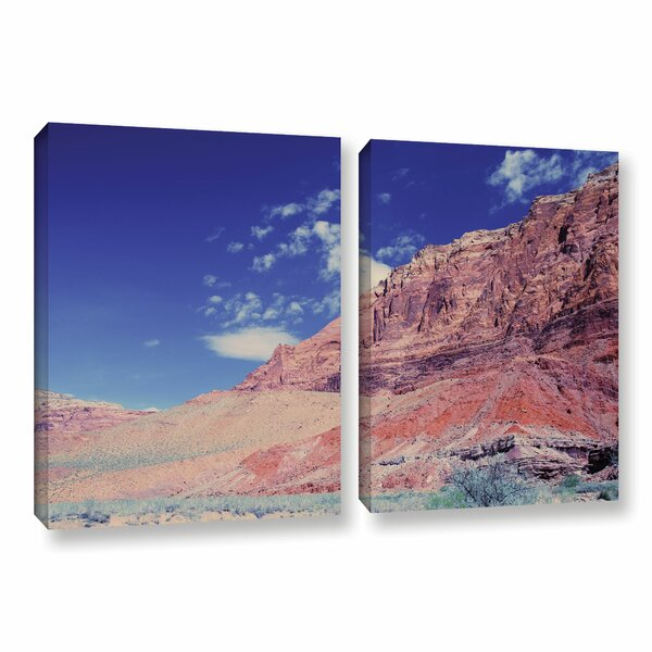 Utah-Paria Canyon by Dan Wilson 2 Piece Photographic Print on Wrapped Canvas Set by ArtWall