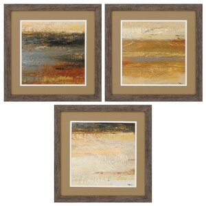 Siena Abstract 3 Piece Framed Painting Print Set by Propac Images