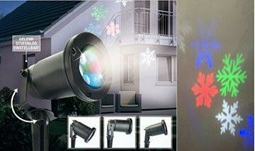 Let it Snow LED Snowflake Projector Light by The Holiday Aisle