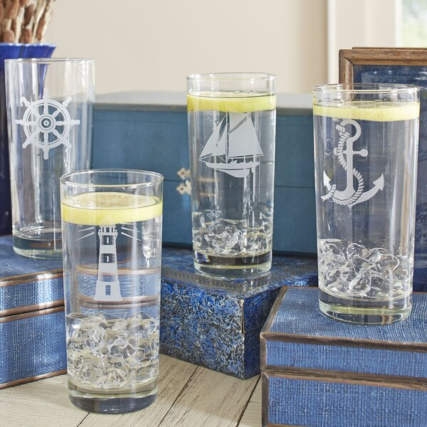 Nautical Highball Glasses (Set of 4) by Birch Lane™
