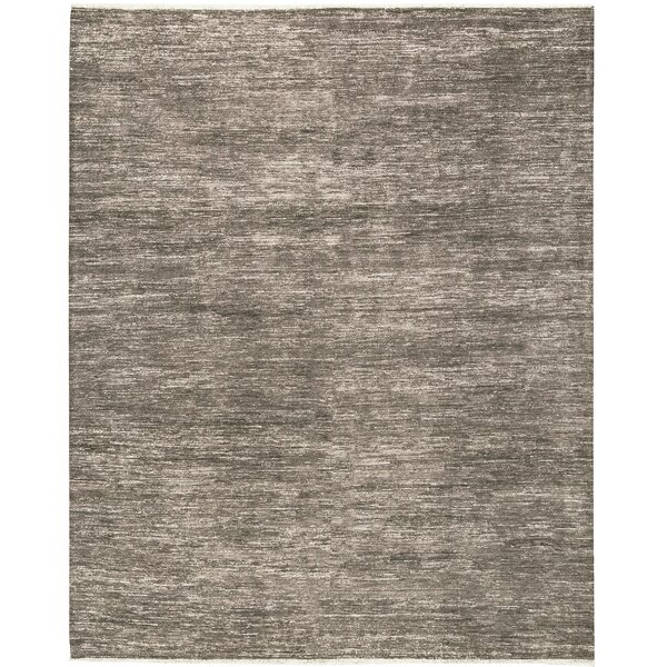 One-of-a-Kind Gabbeh Hand-Knotted Wool Brown/Ivory Area Rug by Bokara Rug Co., Inc.