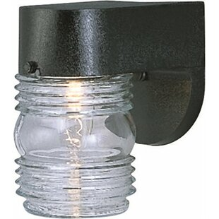 Comparison Jelly Jar 1-Light Outdoor Sconce By Monument