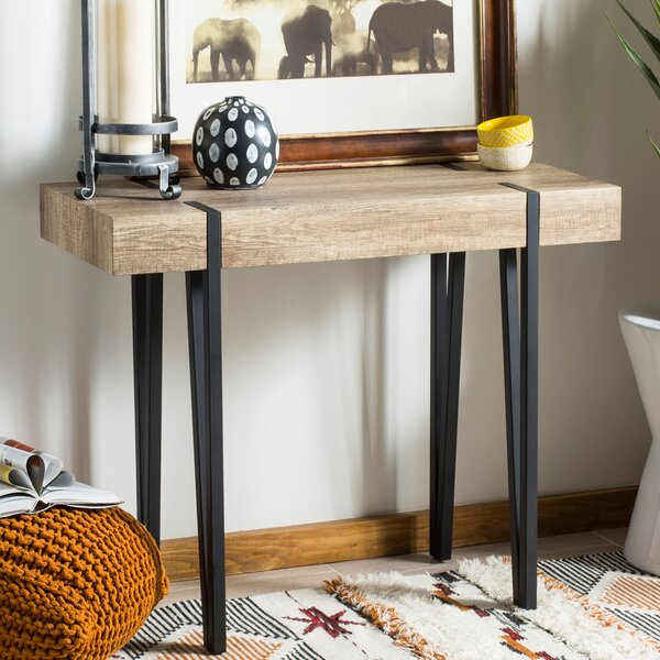 Ricarda Rectangular Wood Top Console Table by Ivy Bronx
