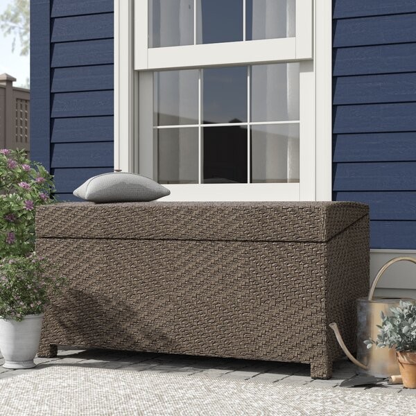 Hetzel 150 Gallon Wicker Deck Box by Bayou Breeze Bayou Breeze