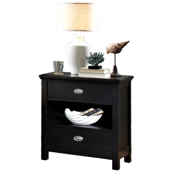 Bedfo 2 Drawer Nightstand by Highland Dunes