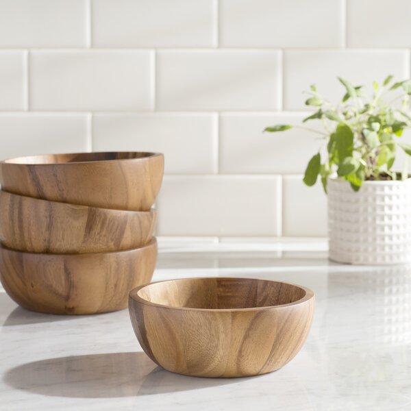 Chamomile Individual Salad Bowls Set (Set of 4) by Mint Pantry