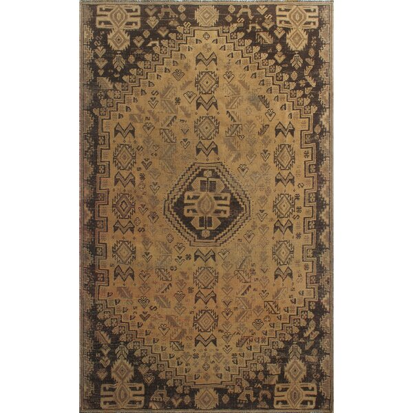 One-Of-A-Kind Brook Hand-Knotted Wool Brown Area Rug by Isabelline