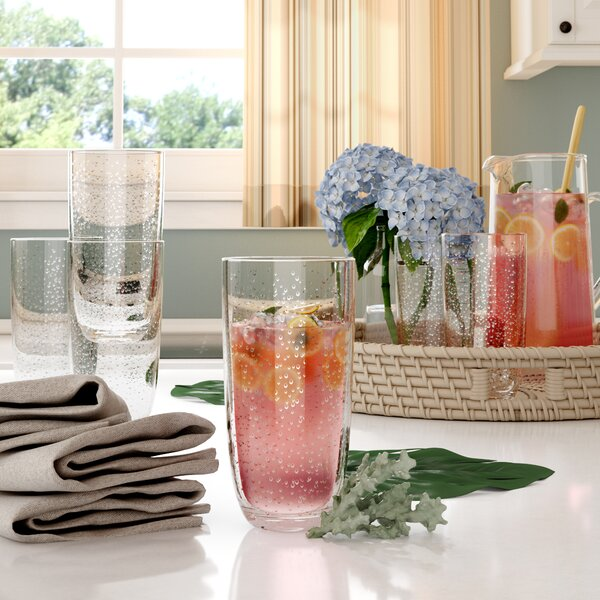 Fontaine Bubble Jumbo 23 oz. Acrylic Drinking Glass (Set of 6) by Highland Dunes
