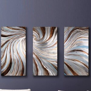 Dream Melody' 3 Piece Painting on Metal by Magari