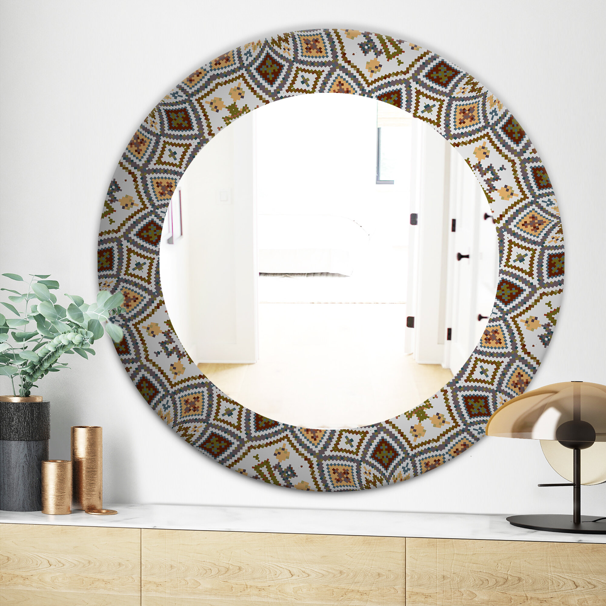 Arabic Mosaic Bathroom Vanity Mirror