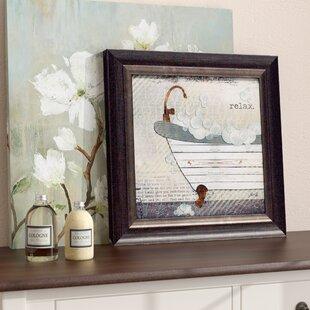 Perfect U0027Relax Texture Coated Bathroomu0027 Framed Graphic Art Print